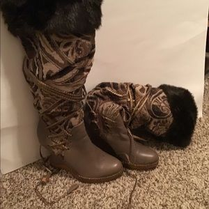 👢🖤Boots with Fur🖤👢
